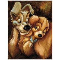 Image of ''Lady and the Tramp'' Giclée by Darren Wilson # 1