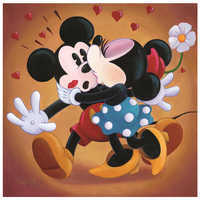 Image of ''Mickey and Minnie Kissing'' Giclée by Michelle St.Laurent # 1