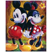 Image of Mickey Mouse and Minnie ''Two Hearts'' Giclée by Darren Wilson # 1