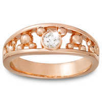 Image of Diamond Mickey Mouse Icon Ring for Men - 14K Rose Gold # 1