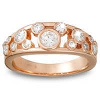 Image of Diamond Icon Mickey Mouse Ring for Women - 14K Rose Gold # 1