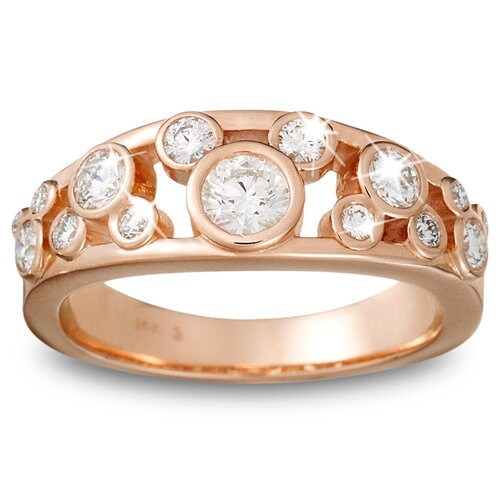 Diamond Icon Mickey Mouse Ring for Women 14K Rose Gold