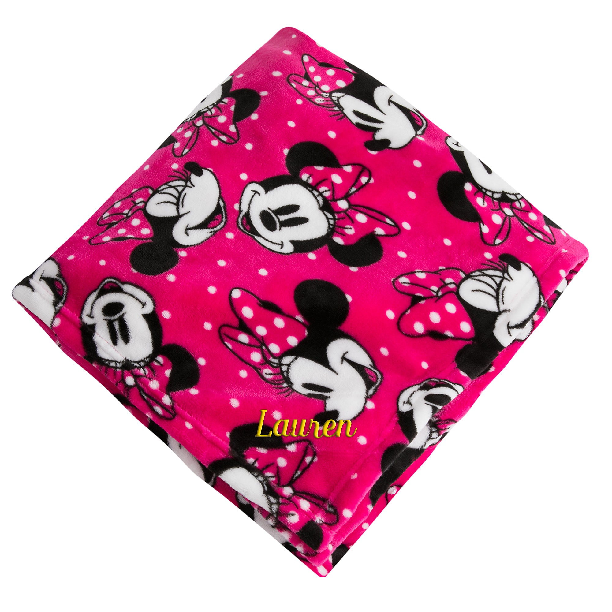 Stunning Minnie Mouse Fleece Throw Personalizable