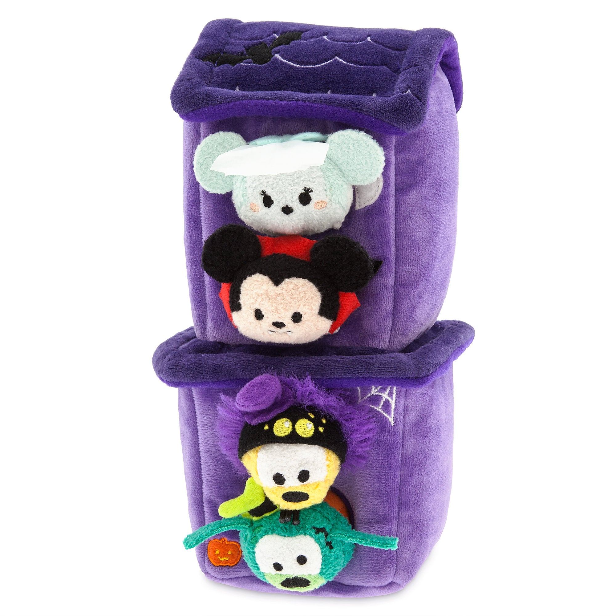 Mickey Mouse and Friends ''Tsum Tsum'' Haunted House Plush Set Plus 4 Micros - 2 1/2''