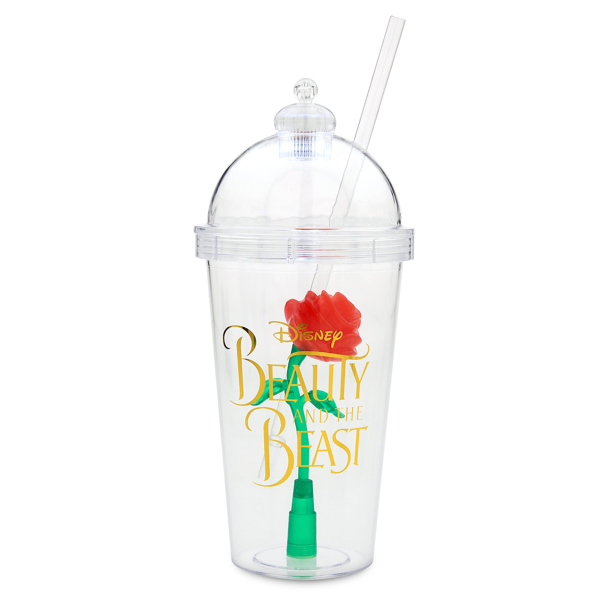 35fc9a0d0 Enchanted Rose Light-Up Dome Tumbler with Straw - Beauty and the Beast |  shopDisney