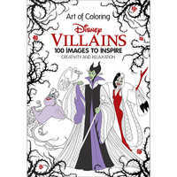 Image of Disney Villains: The Art of Coloring Book # 1