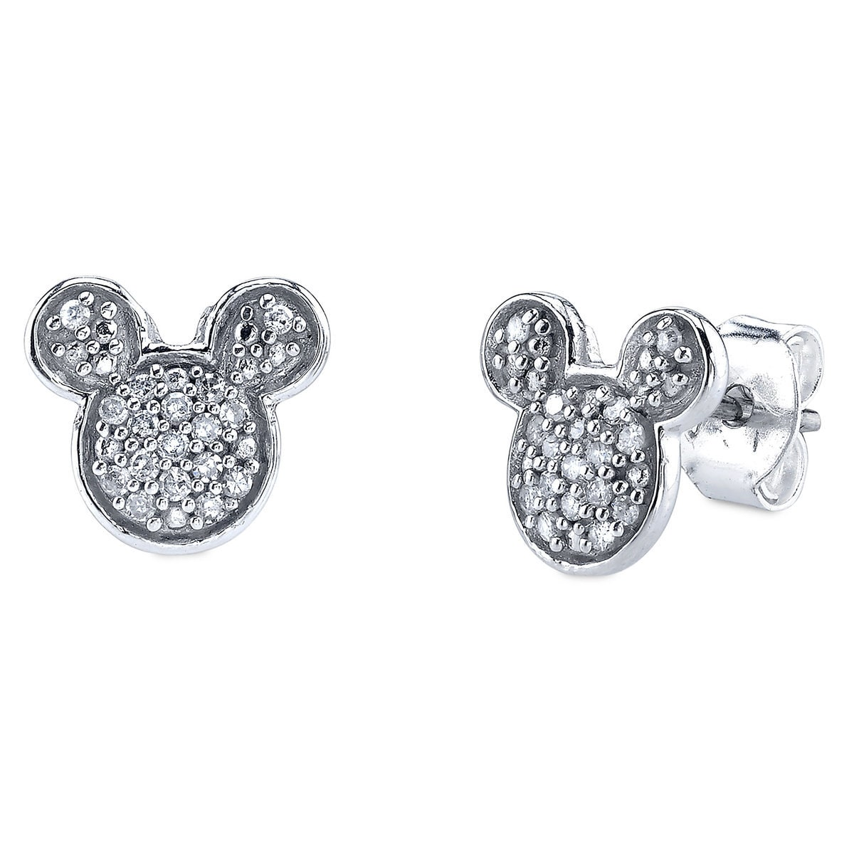 Mickey Mouse Icon Diamond Earrings