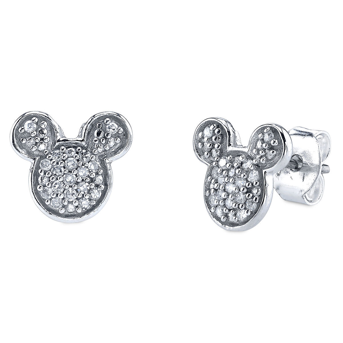 Product Image Of Mickey Mouse Icon Diamond Earrings 1