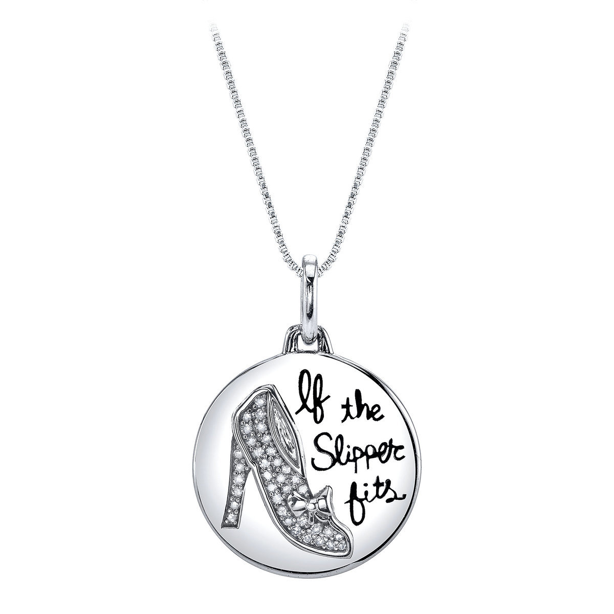 Cinderella if the slipper fits diamond necklace shopdisney cinderella if the slipper fits diamond necklace mozeypictures Images