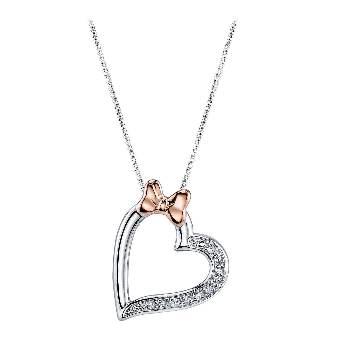 shopdisney diamond necklace heart mouse image minnie