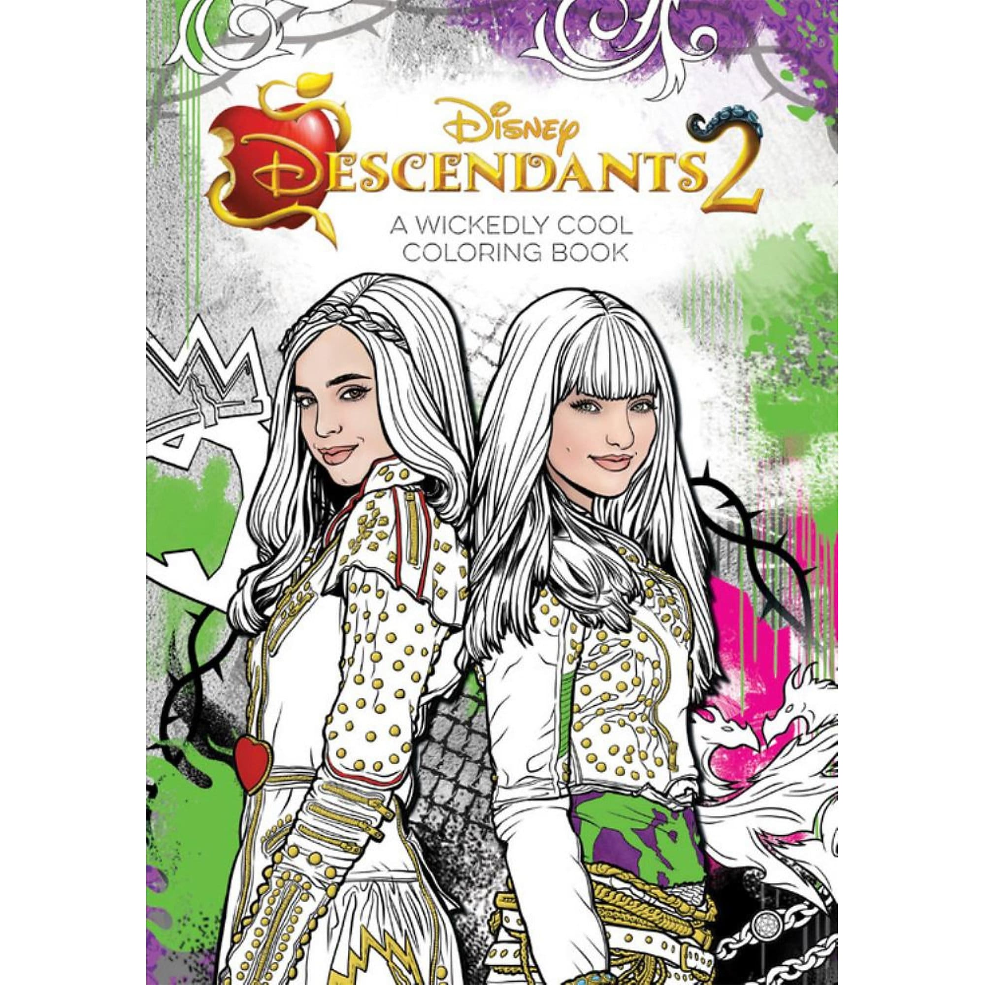 Descendants 2: A Wickedly Cool Coloring Book