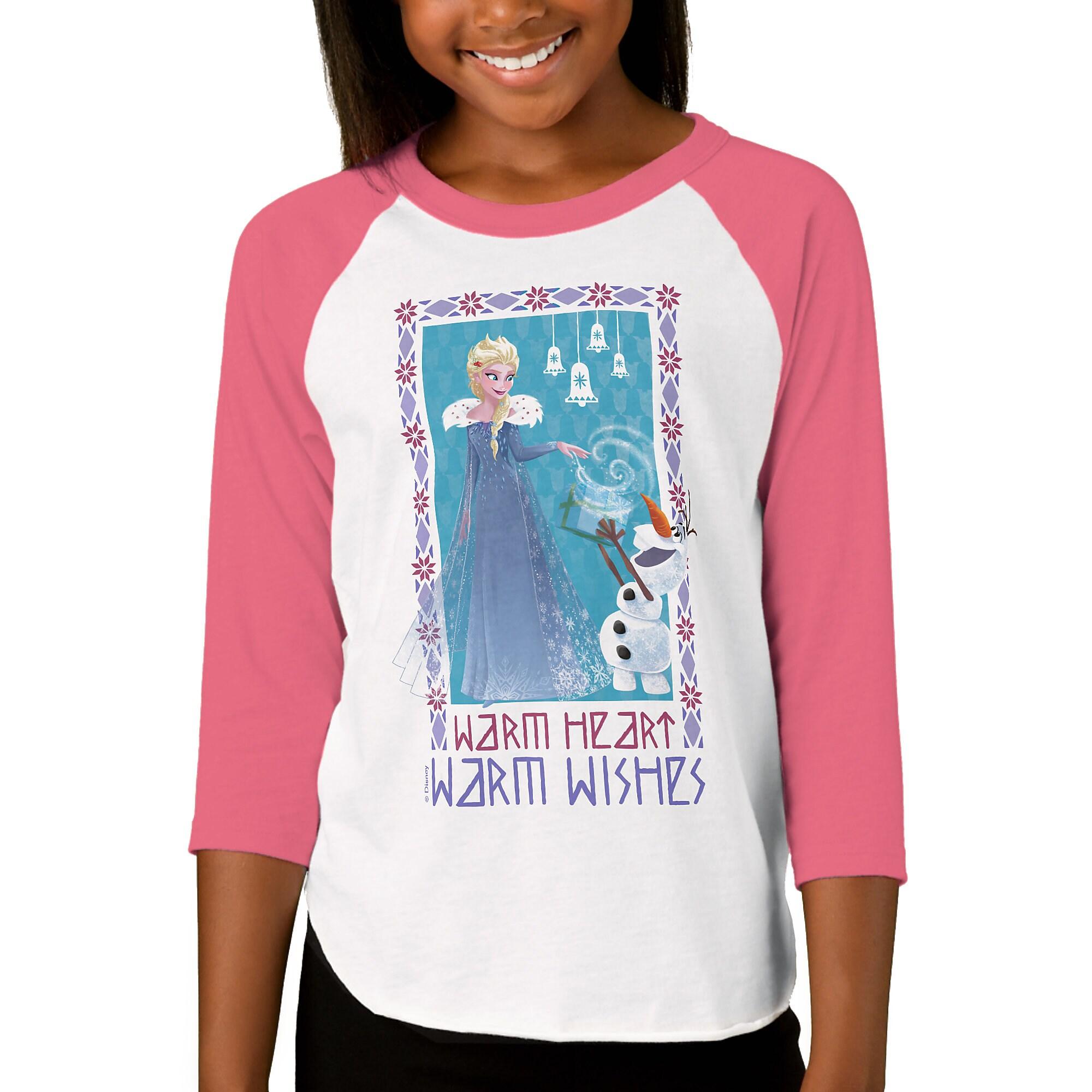Olaf's Frozen Adventure Raglan T-Shirt for Girls - Customizable