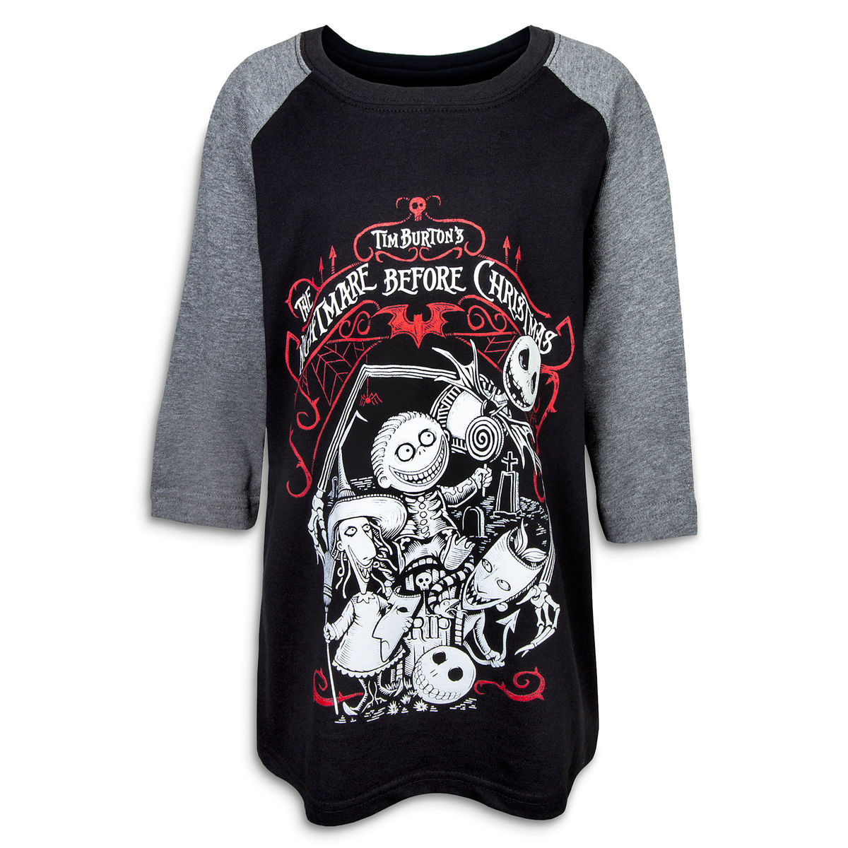 987927704935b Product Image of The Nightmare Before Christmas Raglan T-Shirt for Boys   1