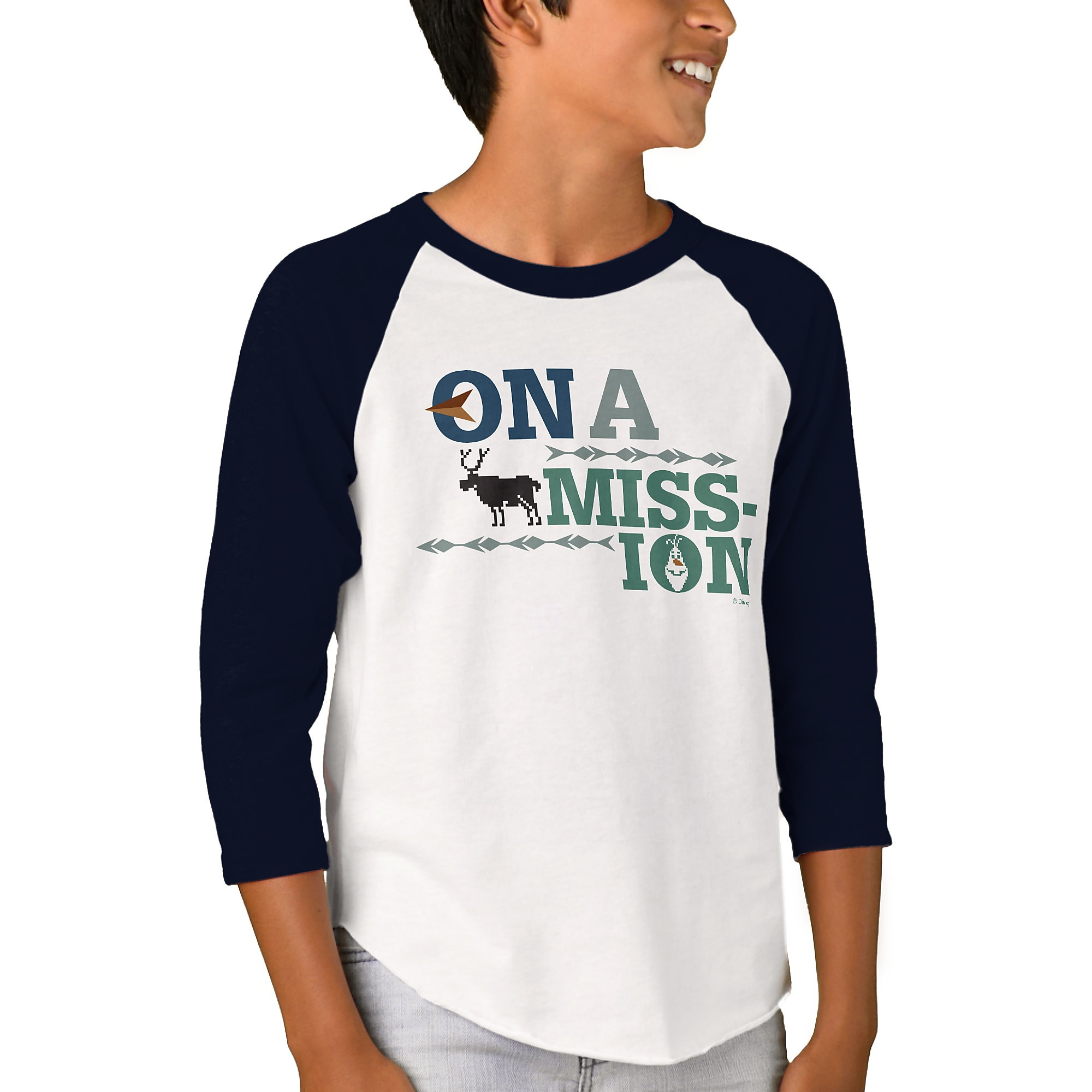 Olaf's Frozen Adventure Raglan T-Shirt for Kids - Customizable