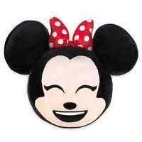 Image of Minnie Mouse Emoji Plush Pillow # 1