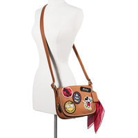 Mickey Mouse Patch Patricia Leather Saddle Bag by COACH