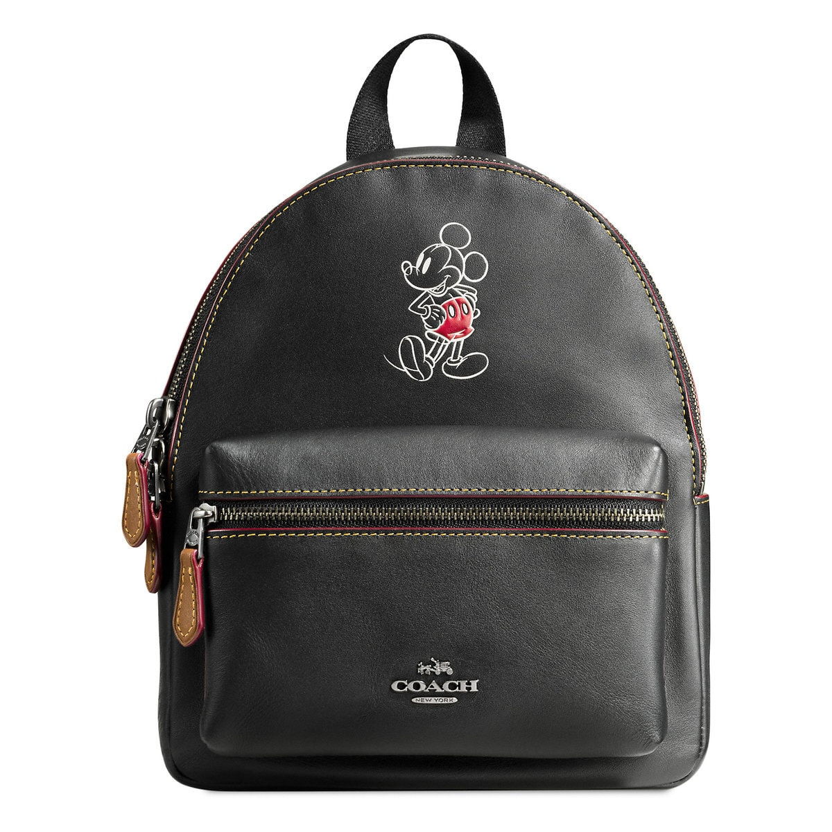 cd08d0b1f Product Image of Mickey Mouse Mini Charlie Leather Backpack by COACH # 1
