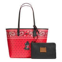 Image of Mickey Mouse Reversible Bandana Print City Tote by COACH # 1