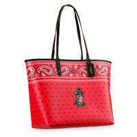 Image of Mickey Mouse Reversible Bandana Print City Tote by COACH # 3