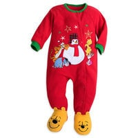 Winnie the Pooh and Pals Holiday Romper for Baby
