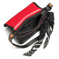 Image of Mickey Mouse Patch Patricia Leather Saddle Bag by COACH - Black # 3