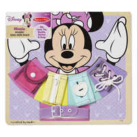 Image of Minnie Mouse Wooden Basic Skills Board by Melissa & Doug # 1