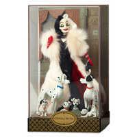 Image of Cruella De Vil and Dalmatians Doll Set - Disney Designer Folktale Series - Limited Edition # 2