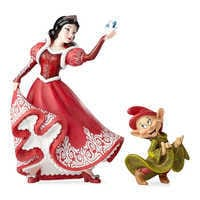 Image of Snow White and Dopey Couture de Force Figurine Set by Enesco # 1