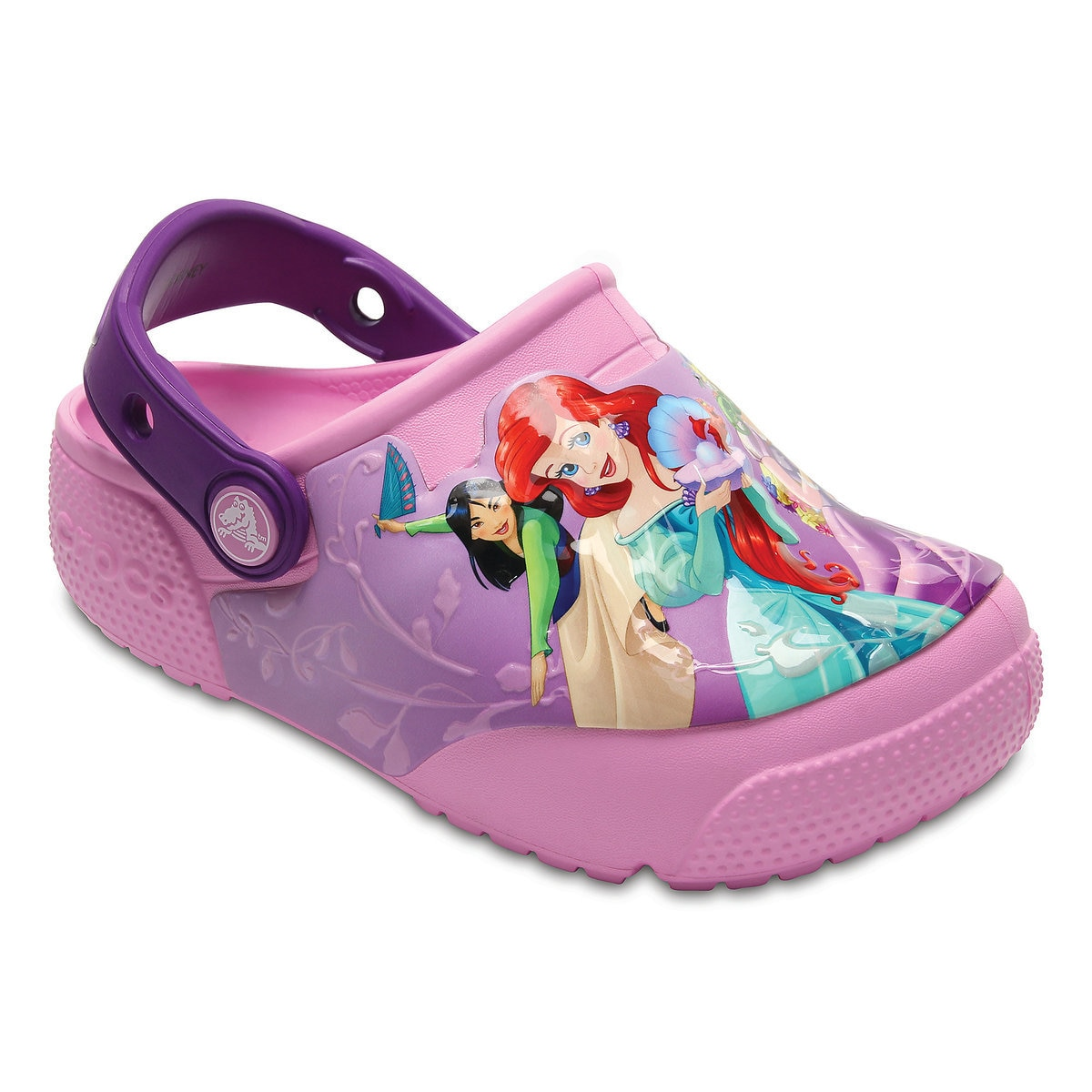97e00d4762 Product Image of Disney Princess Light-Up Clogs for Kids by Crocs   1