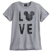 Image of Mickey Mouse Love T-Shirt for Women by David Lerner # 1