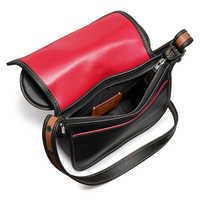 Image of Mickey Mouse Ears Patricia Leather Saddle Bag by COACH - Black # 2