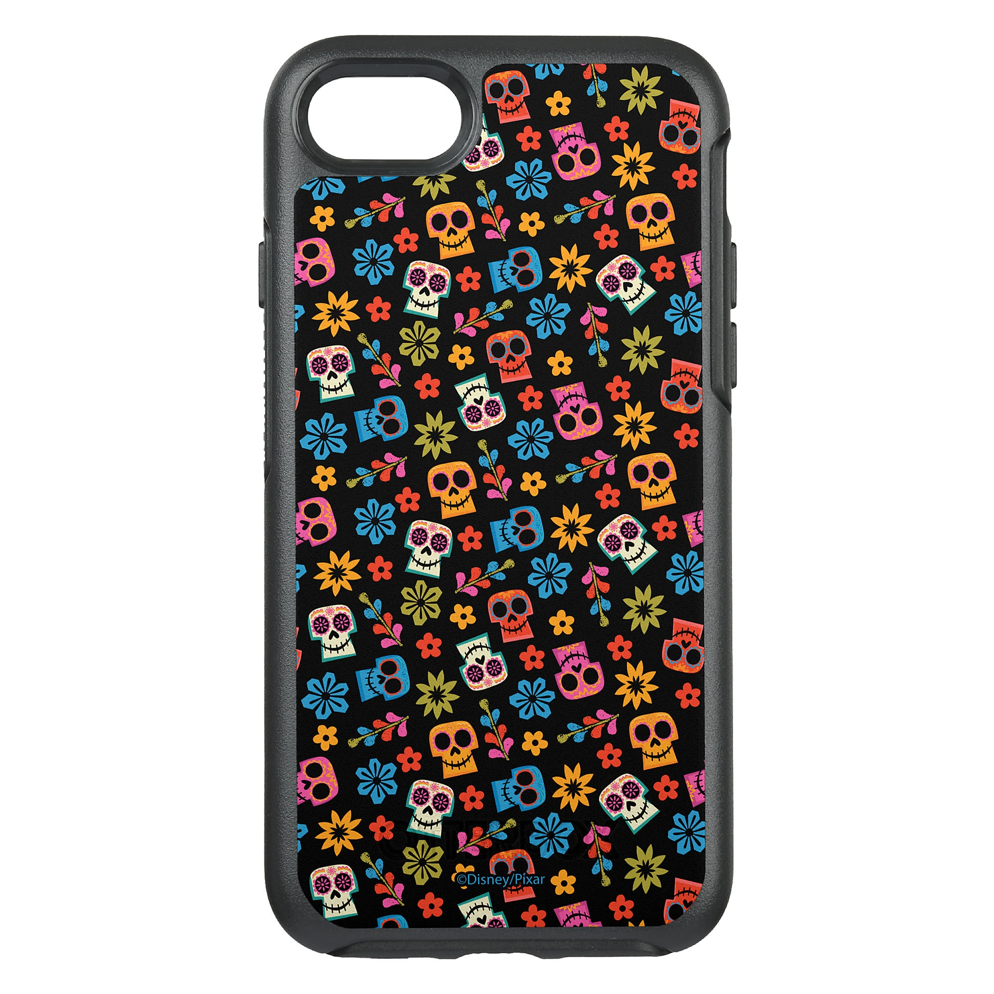 Coco Colorful Skull and Floral Pattern OtterBox Symmetry iPhone 8/7 Case - Customizable
