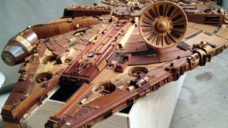 Most Impressive Fans: Martin Creaney's Incredible Wooden Millennium Falcon Sculpture