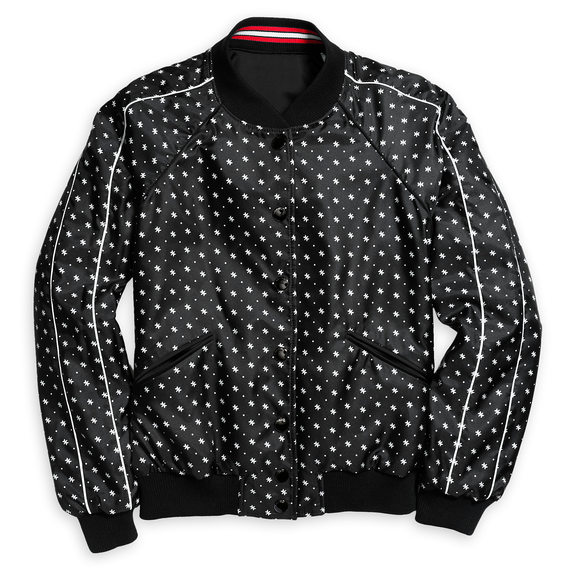 Mickey mouse black faux leather womens jacket