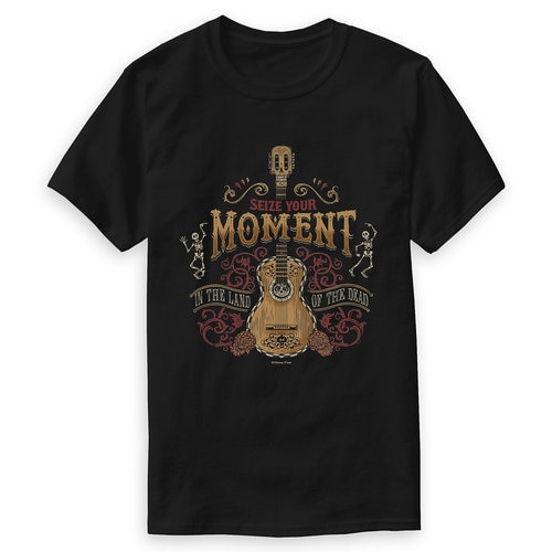 Coco ''Seize Your Moment'' Guitar T-Shirt for Men - Customizable