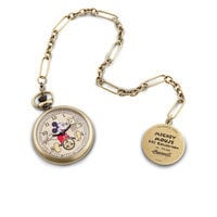Image of Mickey Mouse Pocket Watch Replica for Adults by Ingersoll # 1