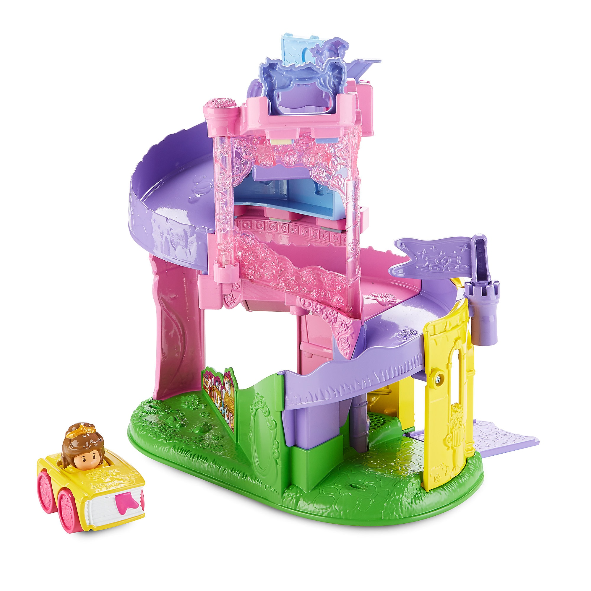 Disney Princess Light & Twist Wheelies Tower by Mattel - Belle