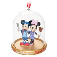 Image of Mickey and Minnie Mouse Vacation Dome Ornament - Walt Disney World # 1