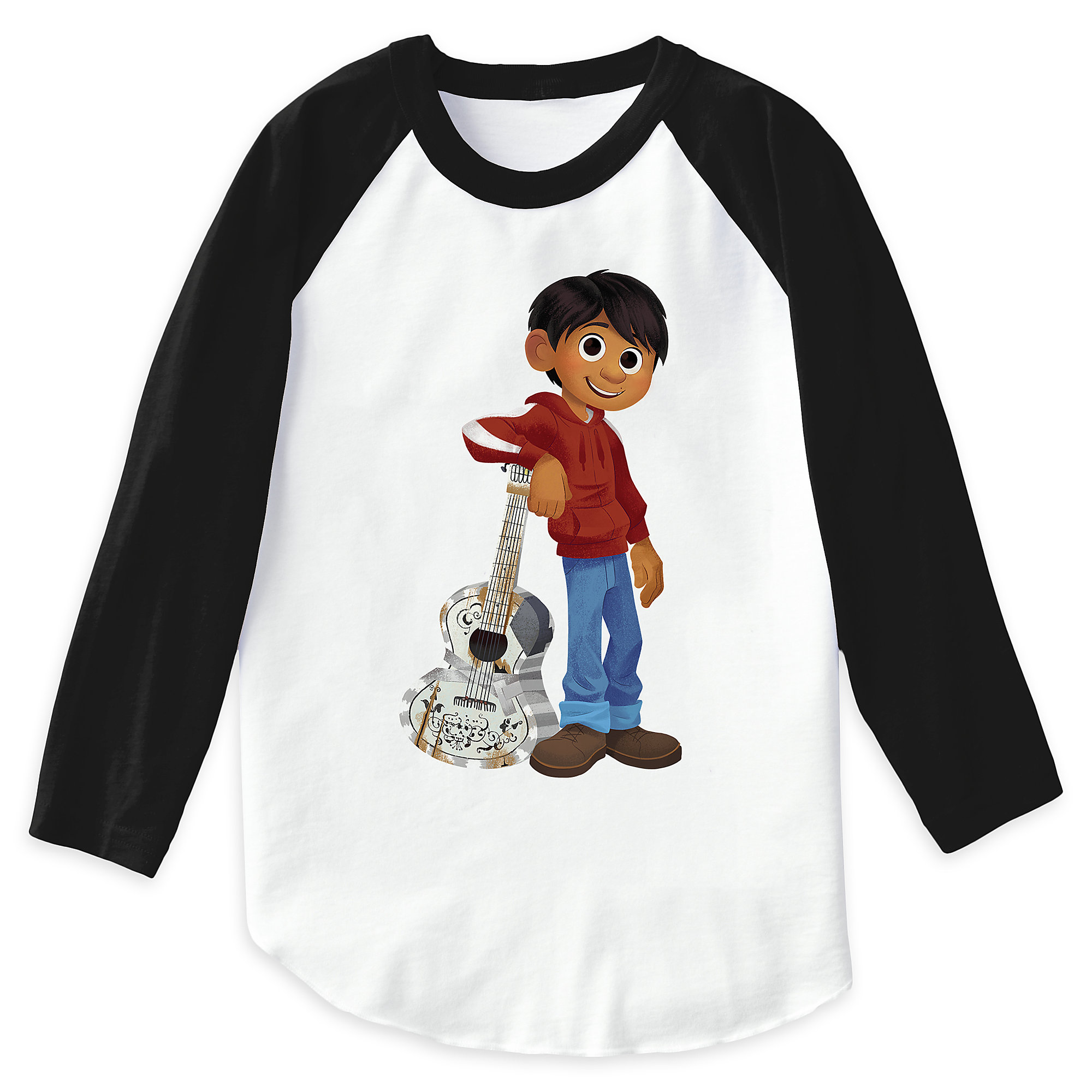 Miguel Playing Guitar Raglan T-Shirt for Boys - Coco - Customizable
