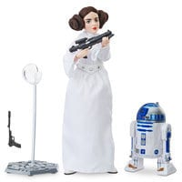 Image of Princess Leia Action Figure - Star Wars: Forces of Destiny - Platinum Edition - Hasbro # 1