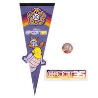 Image of Figment Epcot 35th Anniversary Fan Pack # 1