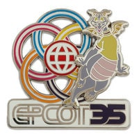 Image of Figment Pin - Epcot 35th Anniversary # 1