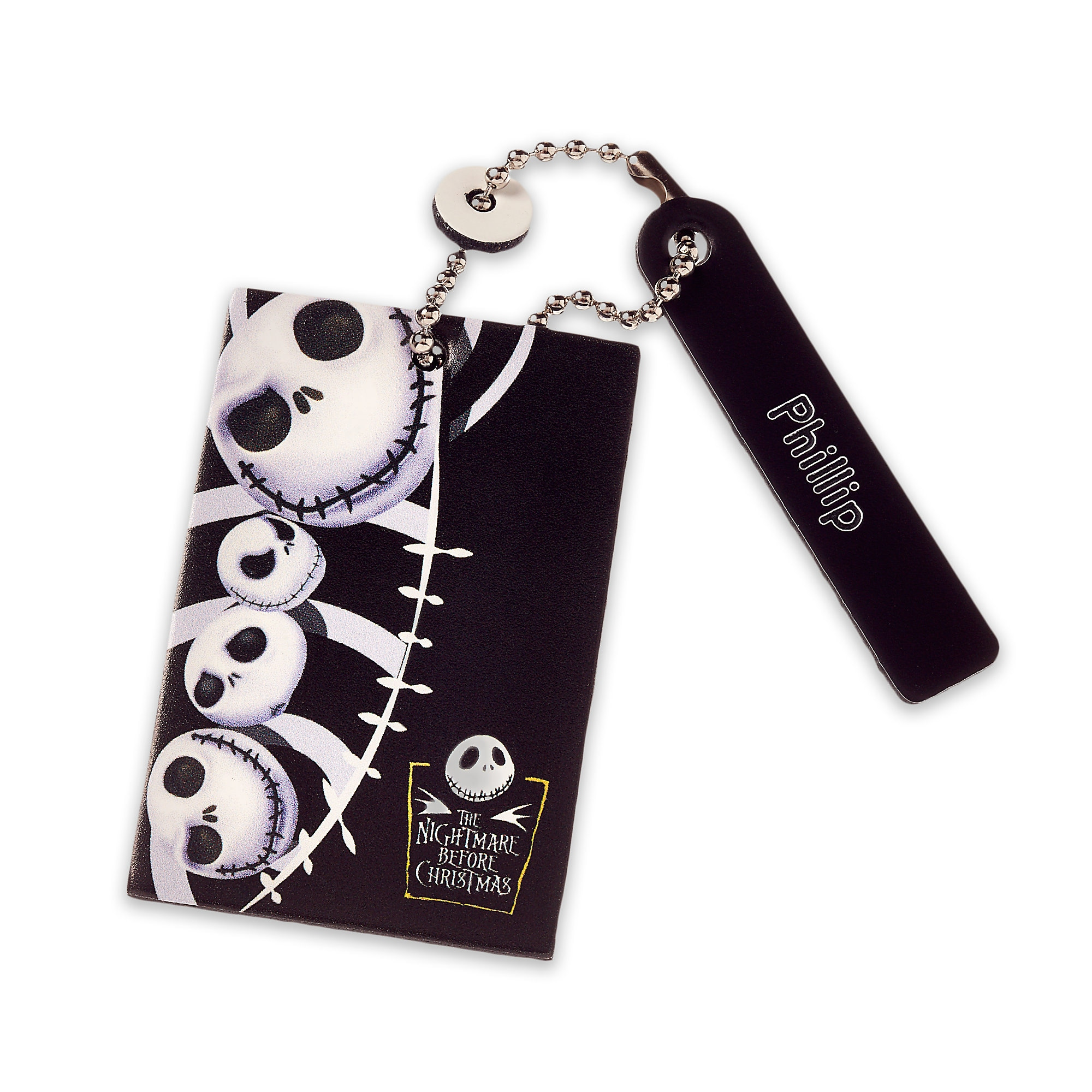 Jack Skellington Leather Luggage Tag - Personalizable