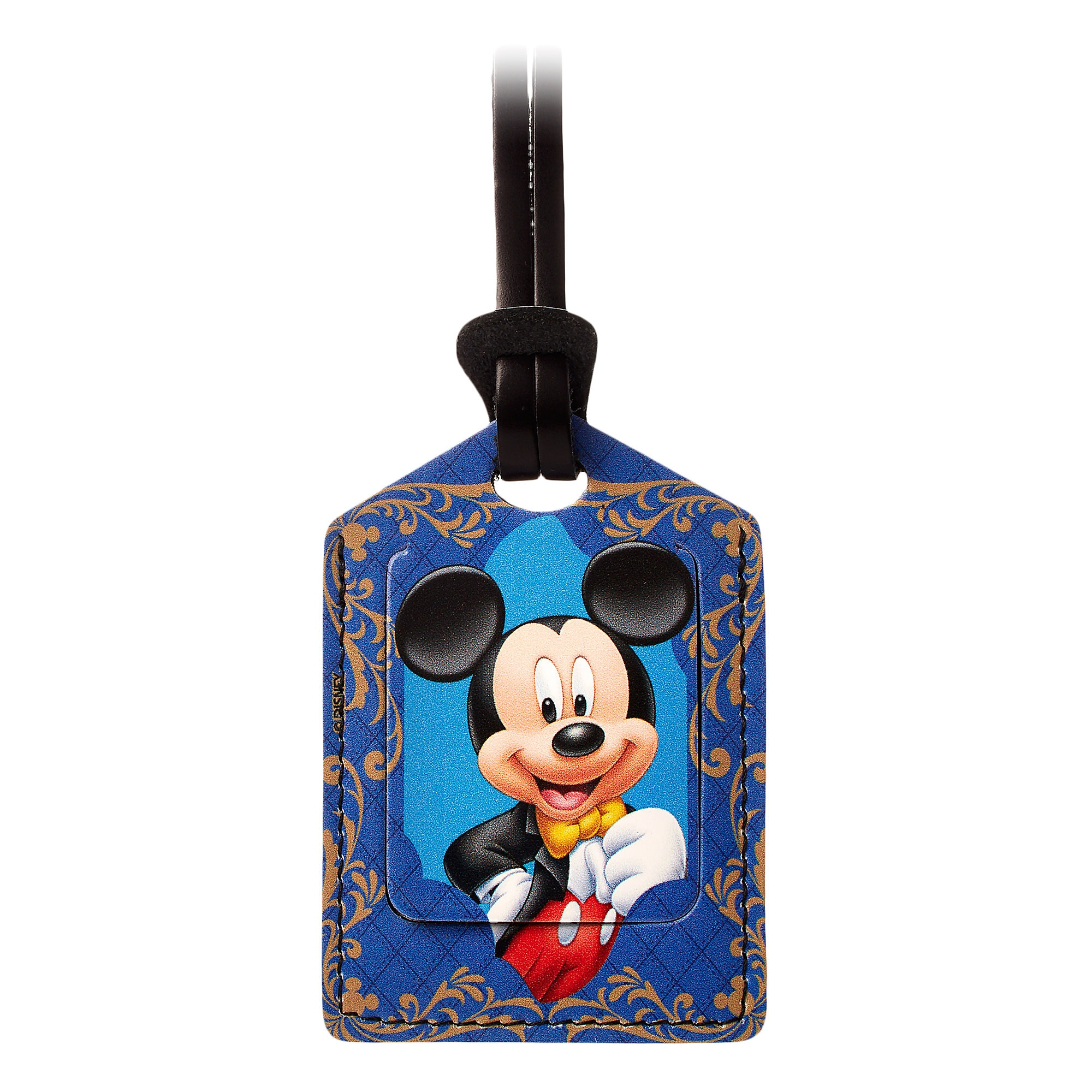 Mickey Mouse Leather Luggage Tag - Personalizable