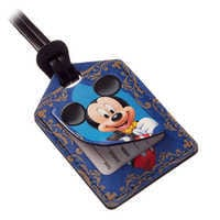Image of Mickey Mouse Leather Luggage Tag - Personalizable # 2
