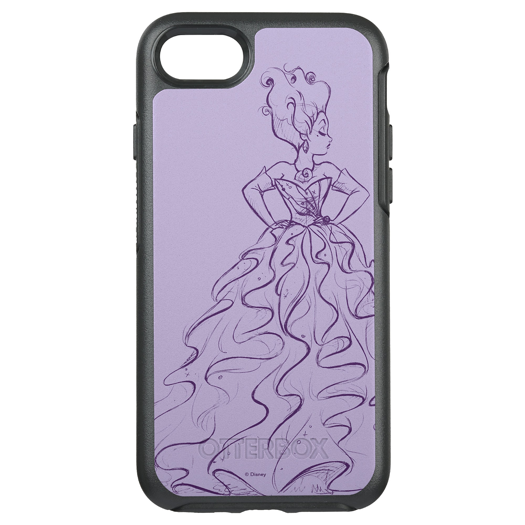 Ursula OtterBox Symmetry iPhone 8/7 Case - Art of Disney Villains Designer Collection