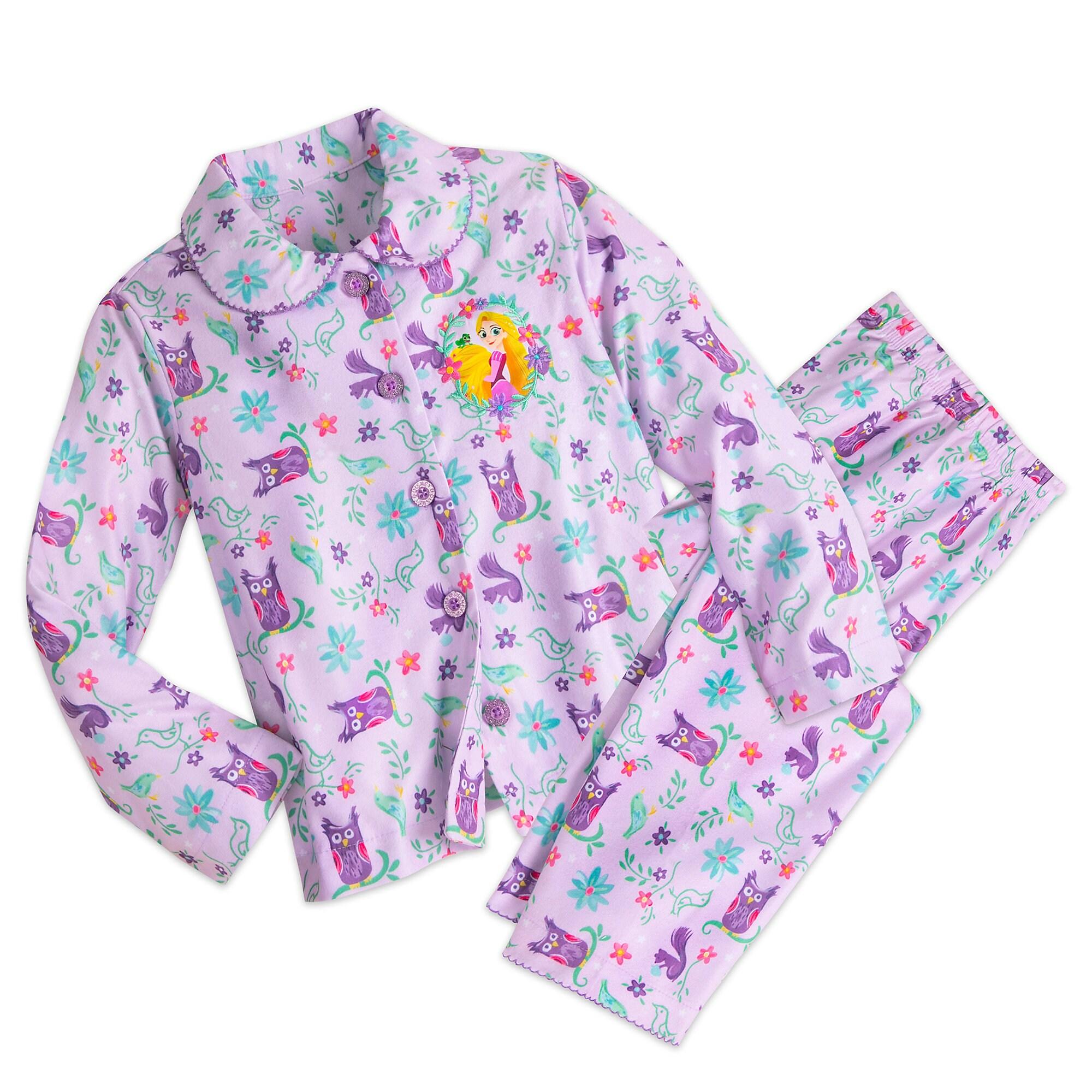 Tangled Flannel PJ Set for Girls