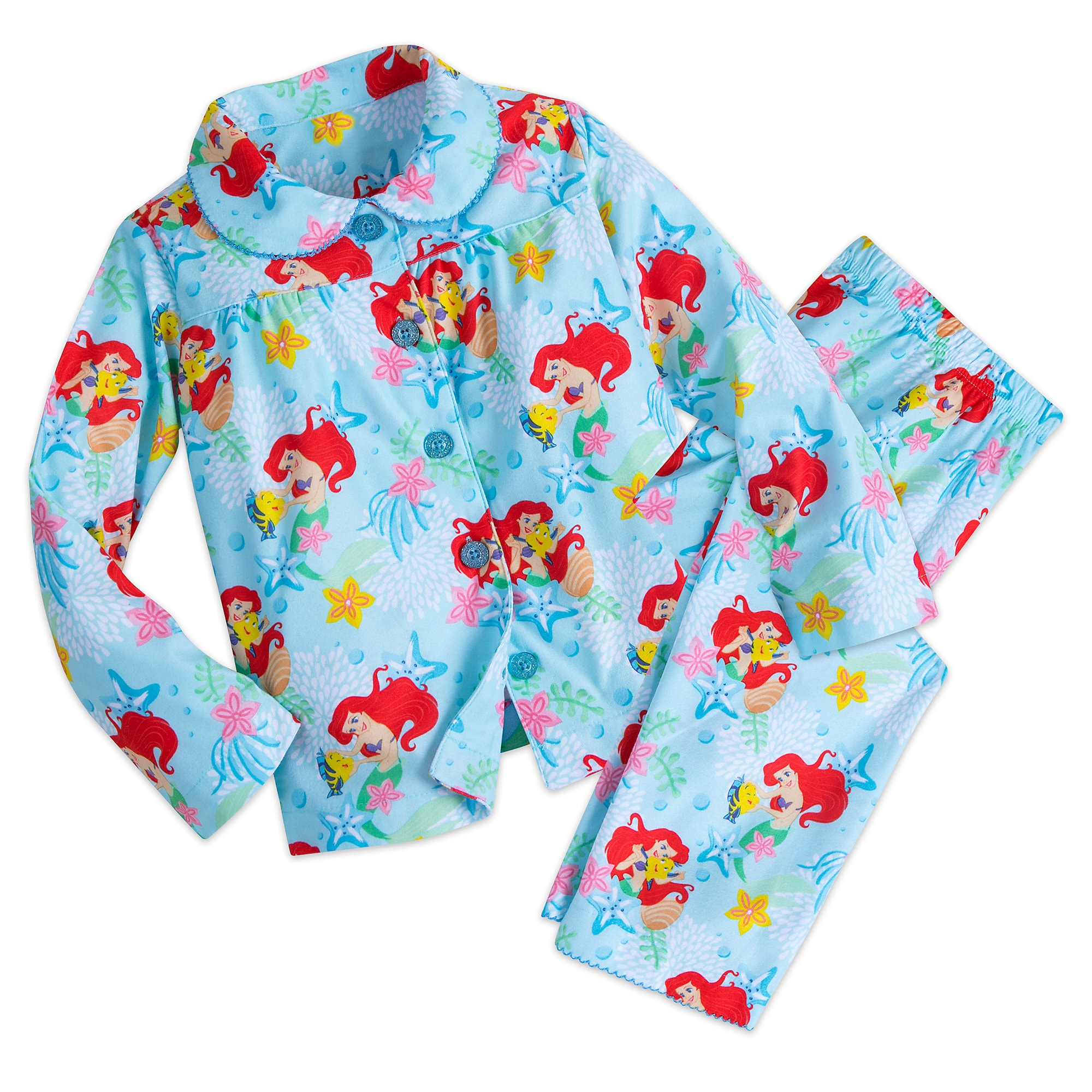 Ariel Flannel PJ Set for Girls