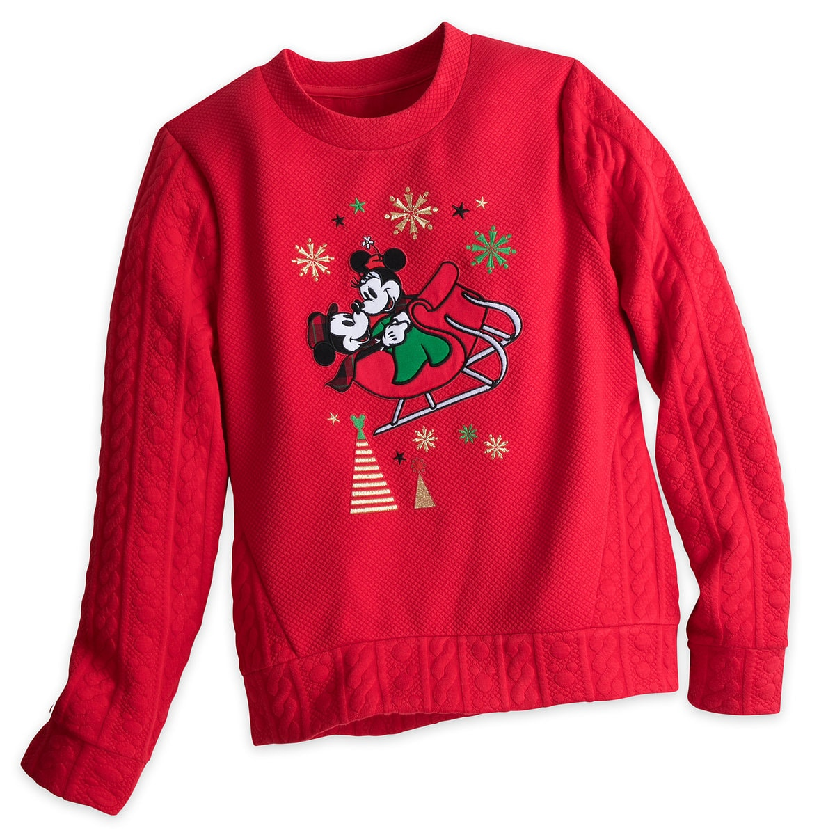 Mickey and Minnie Mouse Holiday Sweater for Women | shopDisney