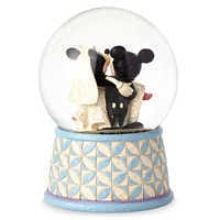Image of Mickey & Minnie Mouse ''Happily Ever After'' Snowglobe - Jim Shore # 2